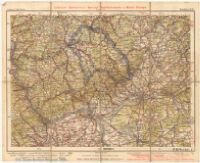 Liebenow- Ravenstein's Special - Radfahrerkarte von Mittel - Europa