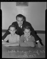Jim Gray, Merle Staub, and Tom Reeves, members of the Doran School Breakfast Club, Glendale, 1936