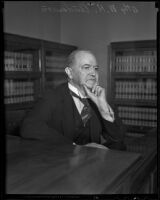 William H. Anderson, attorney and former president of Los Angeles Bar Association, Los Angeles, 1936