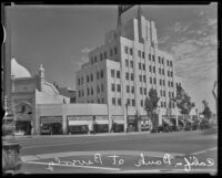 California Bank Building at Wilshire Blvd. and Beverly Dr., Beverly Hills, ca. 1936