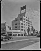 California Bank Building on Wilshire Blvd. and Beverly Dr., Beverly Hills, ca. 1936