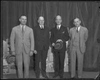 William Spaulding, Ernest Carroll Moore, Rufus B. von KleinSmid, and Howard Jones, 1936