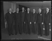 California Real Estate Association F. E. Dayton, C. W. Eastin, Donald C. Burnham, J. Mortimer Clark, Frazier O. Reed, D. D. Watson, and Grover T. Russell, Los Angeles, 1936