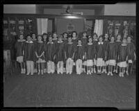 Verse-speaking choir of Fairburn-avenue school, Westwood, 1936