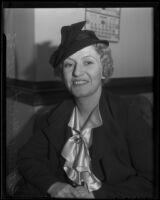 Catherine Geist seeks monetary compensation, Los Angeles, 1936
