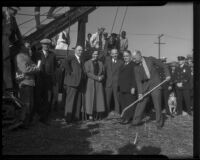 Groundbreaking ceremony for Watts City Hall, Los Angeles, 1936