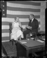 Burmah White is questioned by Dr. William A. Griffith, Los Angeles, 1933