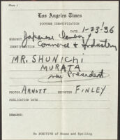 Los Angeles Times Picture Identification form, 1936