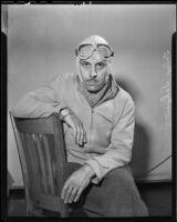 Acrobatic pilot Tony Scwamm, Los Angeles, 1936