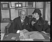 District Attorney David L'Esperance and Dorothy Dunbar Wells, Los Angeles, 1936