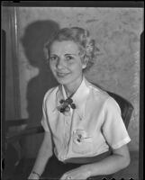 Margaret Hampton is to wed fiance in Phoenix, AZ, Los Angeles, 1936