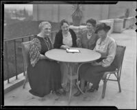 Mrs. Thomas Hoffman Williams, Mrs. Charles D. Hill, Mrs. George McCoy and Mrs. Harry E. Payne representing the Ebell Club, Los Angeles, 1936