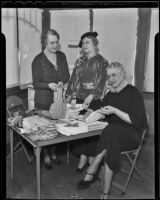 Calista M. MacCoy, Mrs. Chester A. Perrine, and Elsa Burt of the McKinley Home for Boys, Los Angeles, 1936