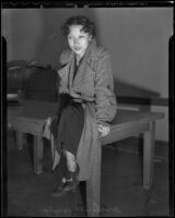 Seventeen-year-old victim of assault Catherine Wong, Los Angeles, 1936