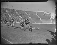 Wisconsin Badgers play UCLA Bruins at Memorial Coliseum, Los Angeles, ca. 1938