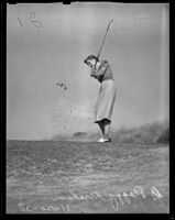 Peggy Graham at the Annandale Golf Course, Pasadena, 1938