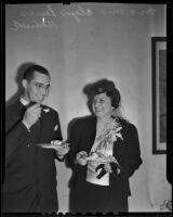 Newlyweds Clyde and Elsie Jean Hedrick, Los Angeles, 1938