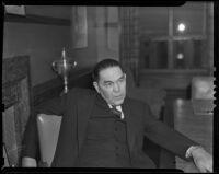 New Mexico governor John E. Miles, Los Angeles, 1938