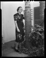 Barbara Sage celebrates her 21st birthday, San Marino, 1938
