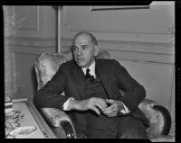Eugene G. Grace, President of Bethlehem Steel Corp, Los Angeles, 1938