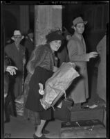 Bonnie Skiles and Earl Redden travel to Los Angeles, 1938