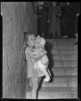 Diane Vogel with a doll, Los Angeles, 1938
