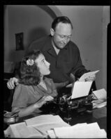 St. Louis Browns' manager Fred Haney with his daughter Patsy, Los Angeles, 1938