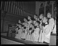 Boys' chorus at St. Joseph's Hall, Los Angeles, ca. 1938
