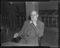 Hans A. Gebhardt in a divorce suit, Los Angeles, 1938