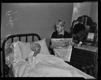 Esther Hoyt reads to her sister Lois Hoyt, Eagle Rock, 1938