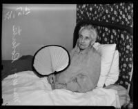 Mrs. William Roberts, age 91, resident of the Women's Christian Temperance Union Home, Eagle Rock, 1938
