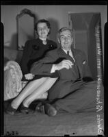 Charles Rokassowski and his wife Leda Utgoff visit Southern California, Los Angeles, 1938