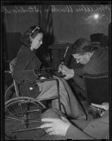 Alice Wooden Stoddard, Polio victim, Los Angeles, 1938