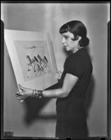 Taos Pueblo artist Pop Chalee during a visit to Los Angeles, Los Angeles, 1939