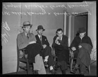 Albert Ramsey, Donald Darling, Eugene Renado, and Donald Ramsey arrested on drug charges, Los Angeles, 1939
