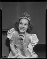 Rose Queen Barbara Dougall, Pasadena, 1938
