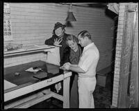 Sari Fedak and Vilma Aknay taken into custody, California, 1935