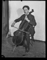 Maurice Amsterdam, cellist, Los Angeles, 1925