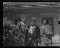 Jane Addams visits Los Angeles, circa 1927