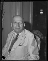Dr. Cyrus Adler talks about the mistreatment of Jews in Germany, Los Angeles, 1933