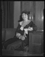 Rose Adler testifies, Los Angeles, 1934