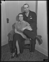 General Francisco J. Aguilar and his wife Maria Luisa Aguilar visit Los Angeles, 1935