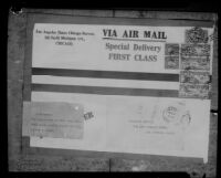 Envelope commemorating the flight innaugurating air mail service from Salt Lake City to Los Angeles, 1926