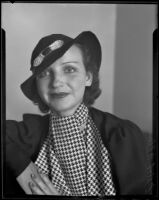 Etta Allen (Hardy) at the time she testified in court about an auto accident, Los Angeles, 1934