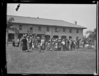 Visitors at Fort MacArthur celebrate Army Day, San Pedro, 1930s