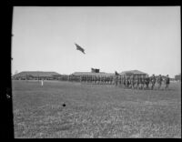 U.S. Army military march at Fort MacArthur, San Pedro, 1930s
