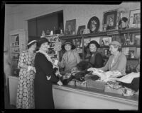 Assistance League opens new thrift shop, Los Angeles, 1933