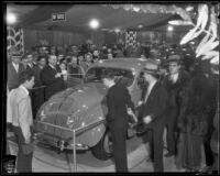 DeSoto airflow model at the Los Angeles auto show, 1934