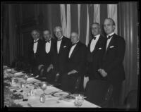 John Hays Hammond honored at annual Lincoln Club dinner, Los Angeles, 1933