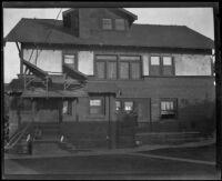 Home of murder victim Jacob Denton, Los Angeles, 1920-1921